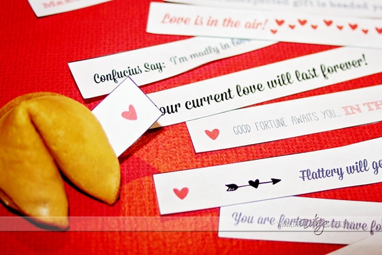 Printable Valentine Fortune Cookie Fortunes