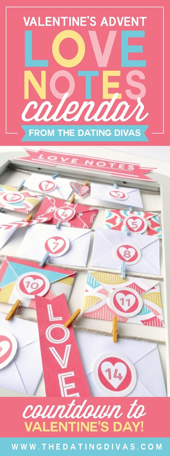 Valentine's Love Notes Calendar