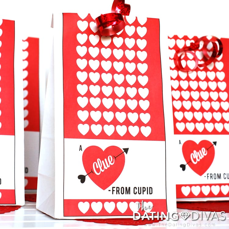 Valentine's Day Scavenger Hunt Activity Bags