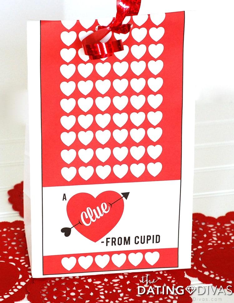 Valentine's Day Scavenger Hunt Clue Bag