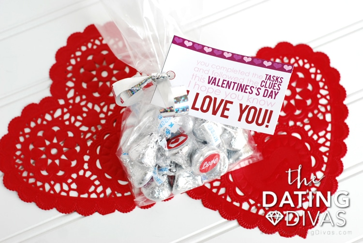 Valentine's Day Scavenger Hunt Gift Idea And Tag