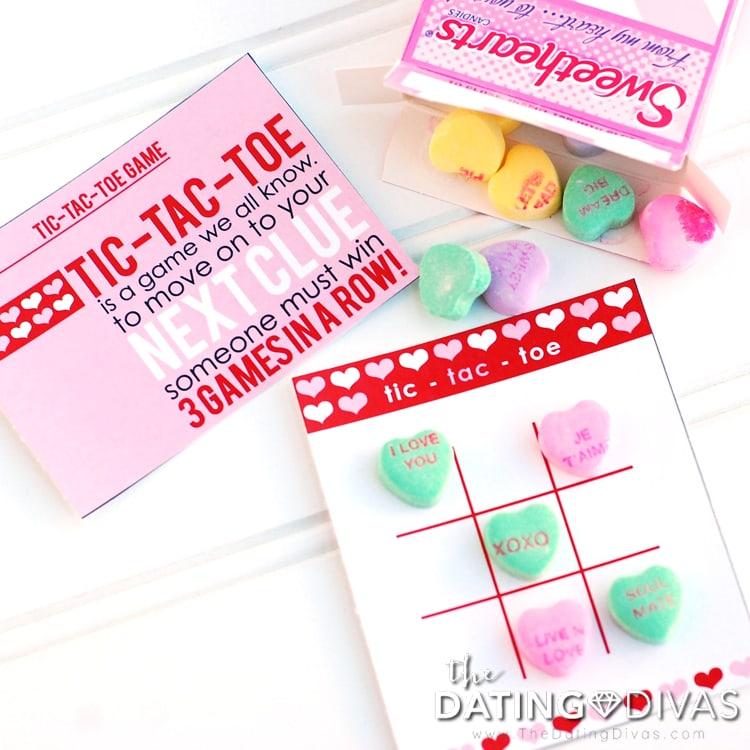 Valentine's Day Scavenger Hunt Tic Tac Toe Game