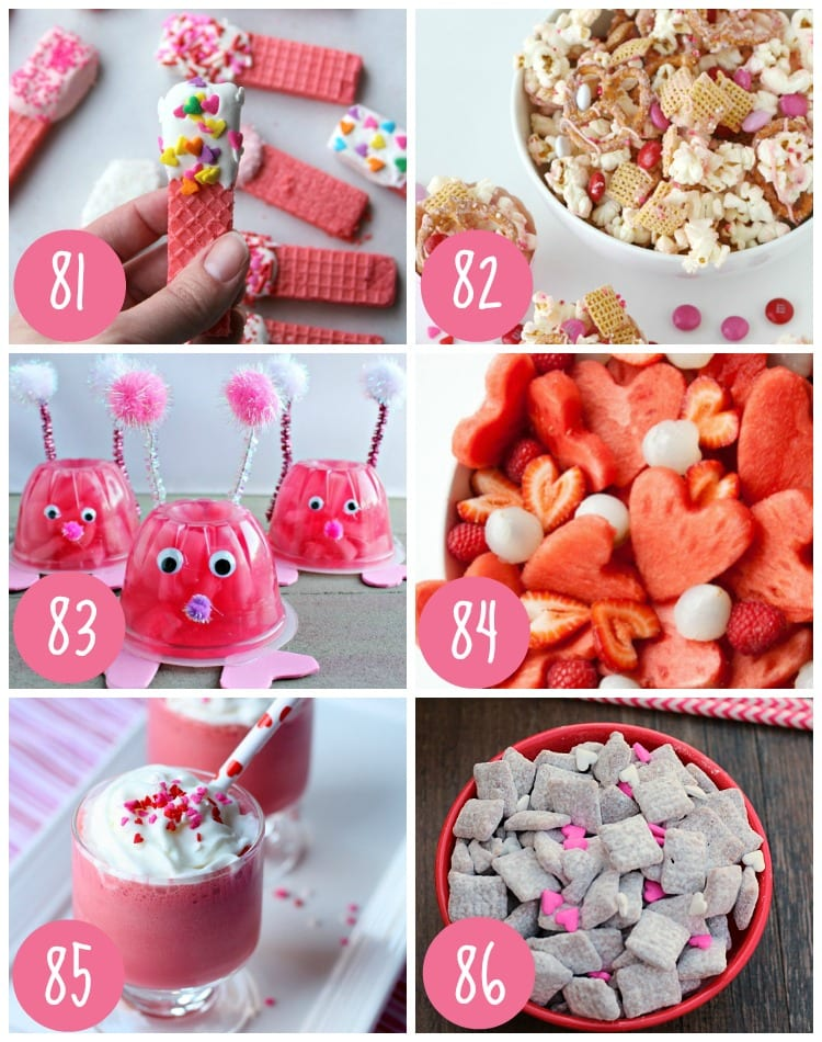 Valentine Snacks and Treats for Kids
