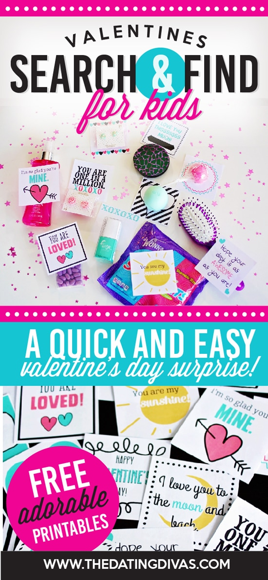 A fun Valentine's Day hunt for the kids. Free printables!
