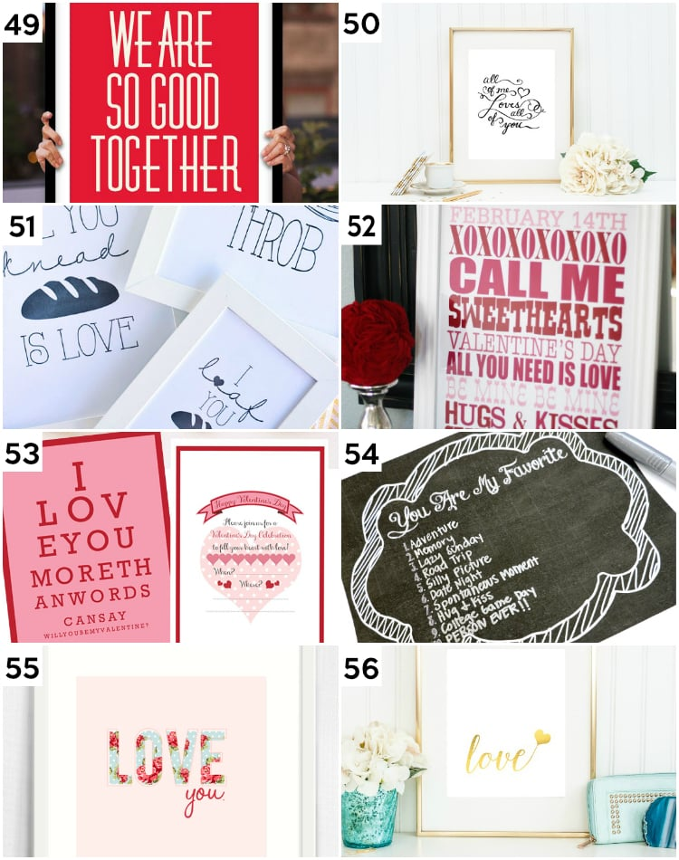 Valentine's Wall Art and Last Minute Valentine's Day Ideas