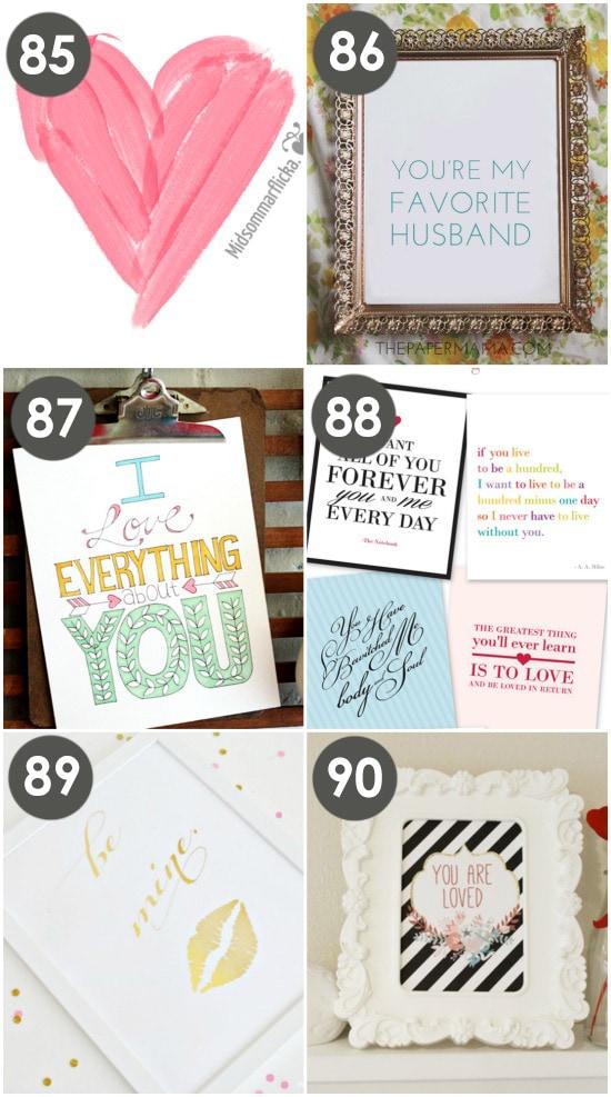 Valentine Wall Prints
