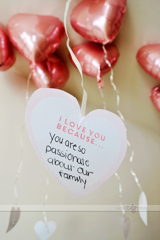 Valentine Card Kits with Romantic Balloon Message