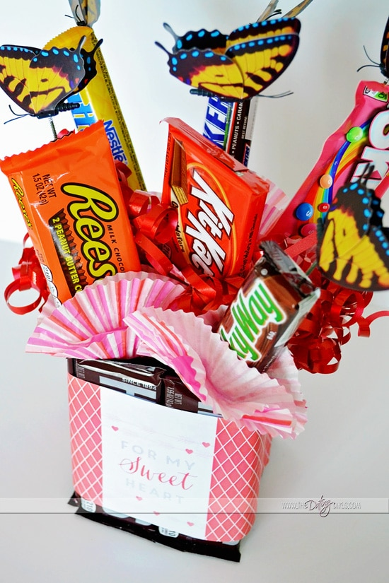 DIY Homemade Candy Bouquet For Valentine's Day
