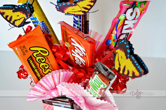 Valentine Card Kit for Candy Bouquet