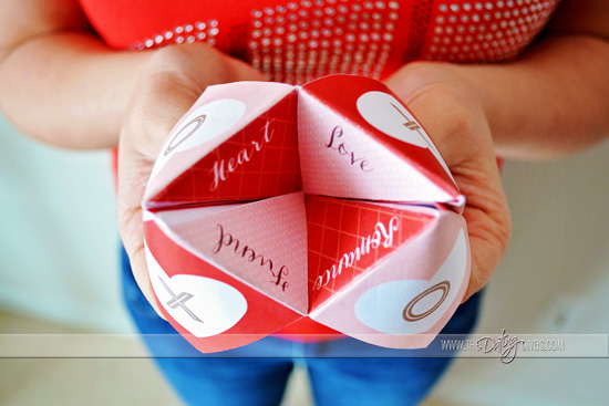 Valentine's Day Cootie Catcher