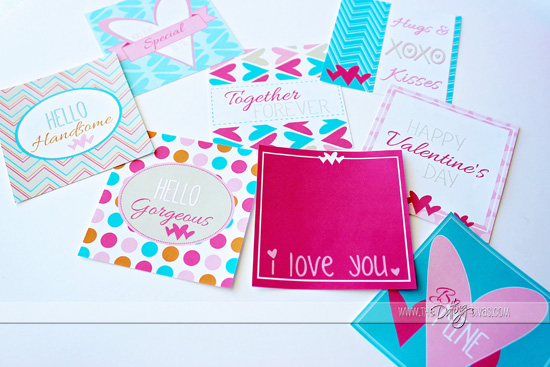 Valentine's Gift Box Tags