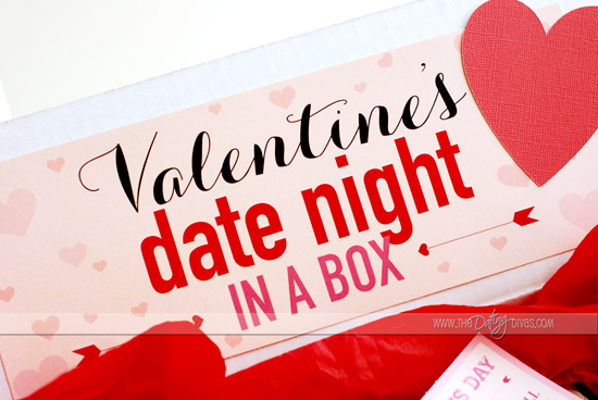 Valentine Date Night Box label