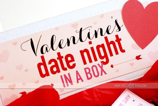 Valentine Date Night Box label