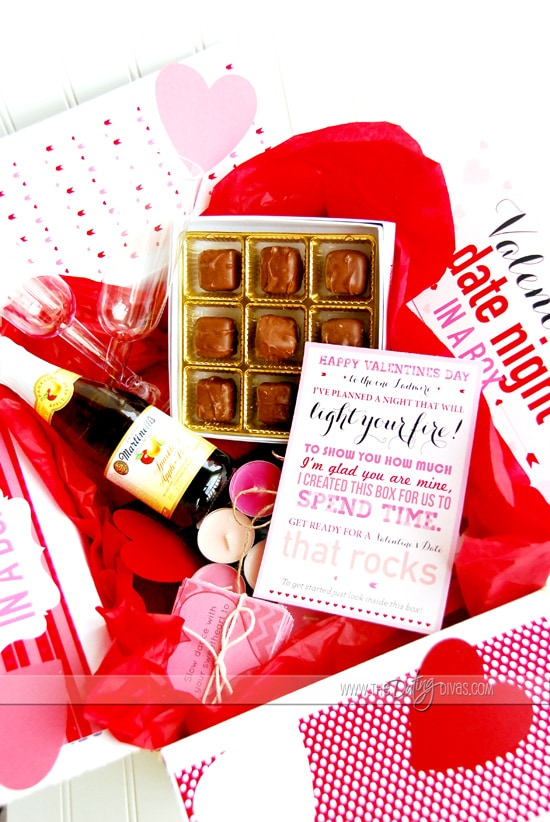 Valentine Date Night Box Supplies and Ideas