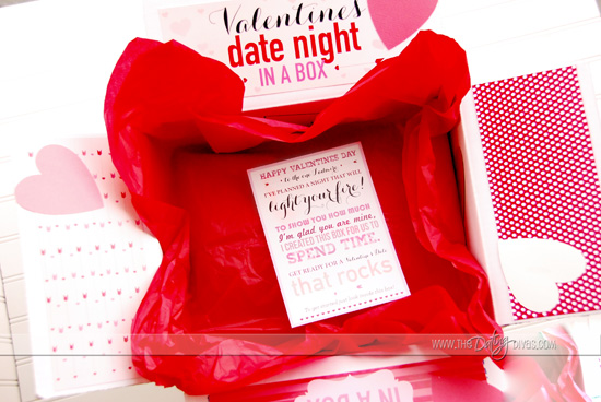 Valentine Date Night box Decoration