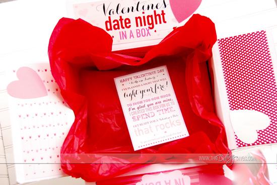 Valentine Date Night box Decoration