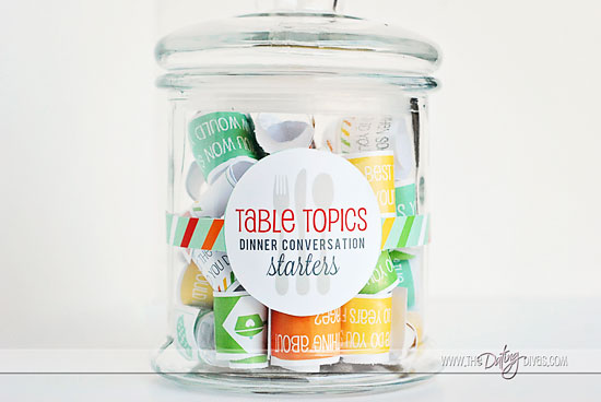 Table Topics Conversation Starters For Families
