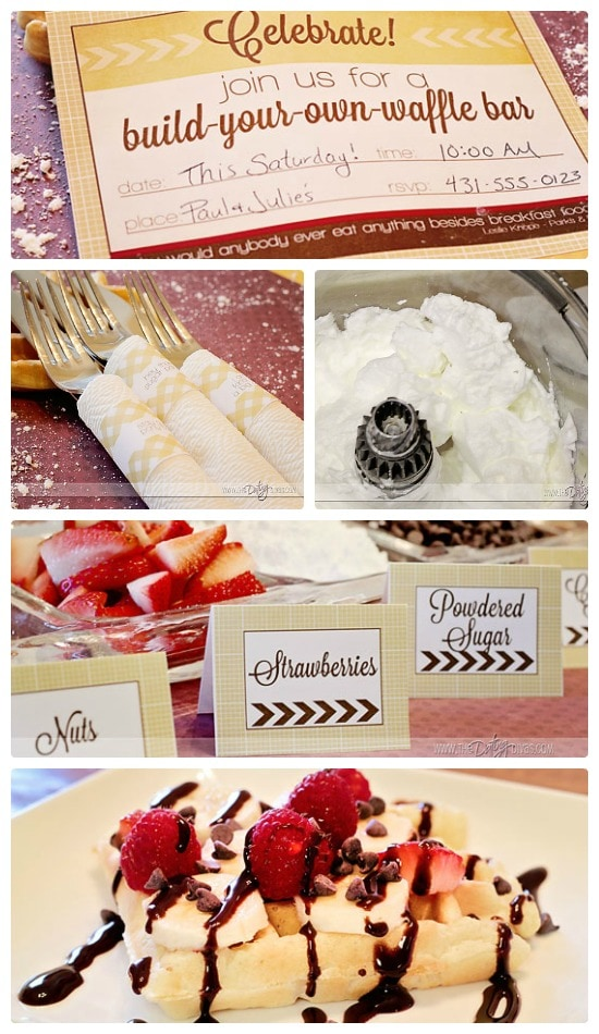 Waffle Bar Community Exclusive Printables