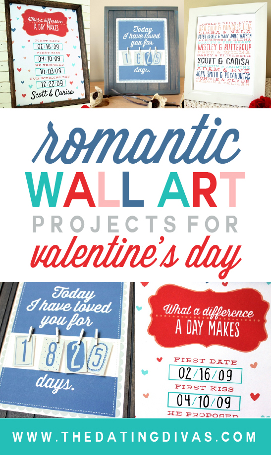 Romantic Wall Art Projects for Valentine's Day