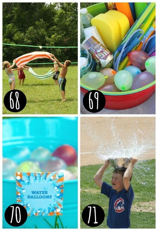 Summertime water games for kids