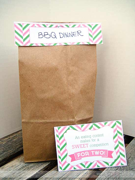 Watermelon Date Night Printable Food Label and Sweet Love Note Cards
