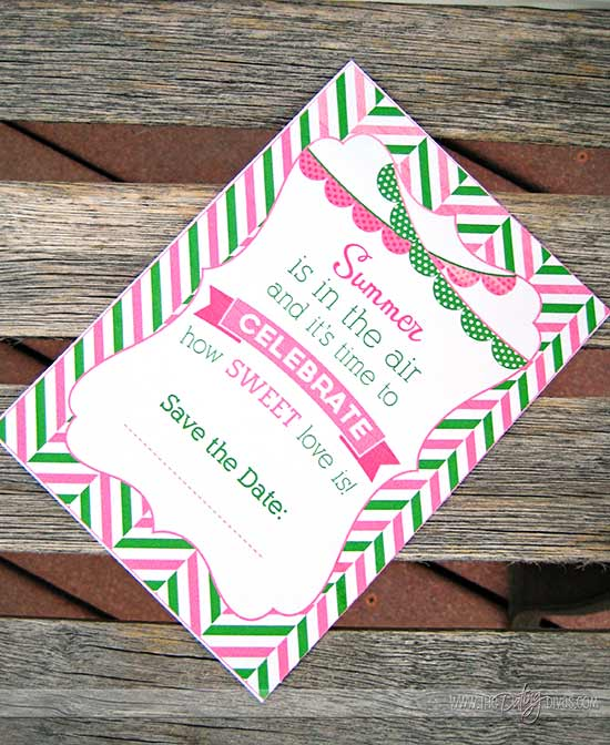 Watermelon Date Night Printable Invite