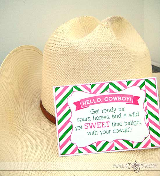 Watermelon Date Night Printables with Love Note Cards