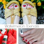Watermelon Toenails