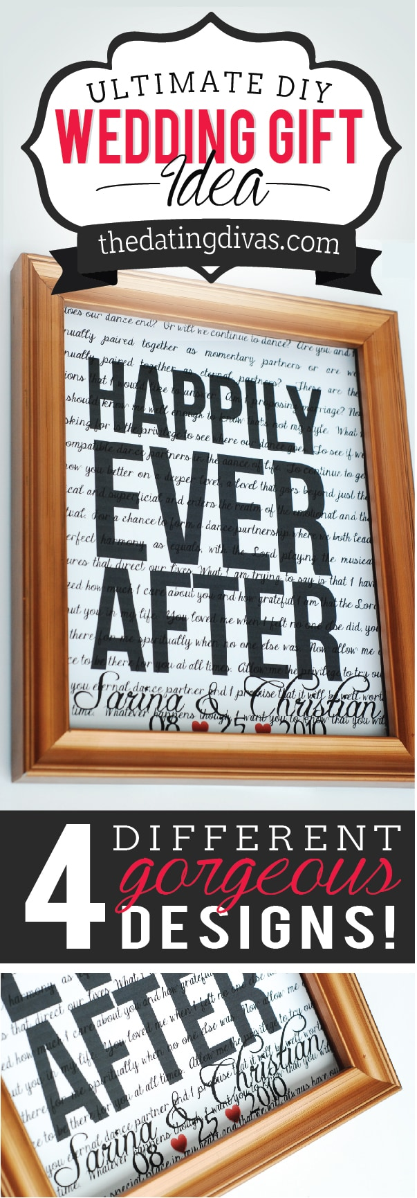 A Wedding Gift Movie : DIY Wedding Gift Idea - A Personalized Love Print