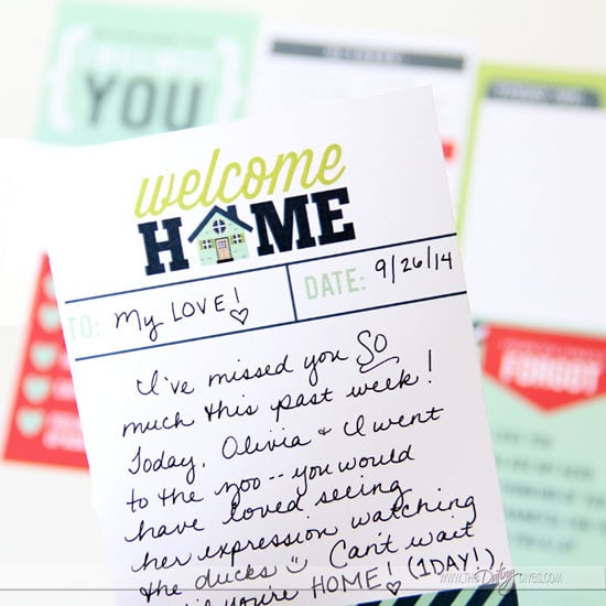 Welcome Home Kit Love Note Detail