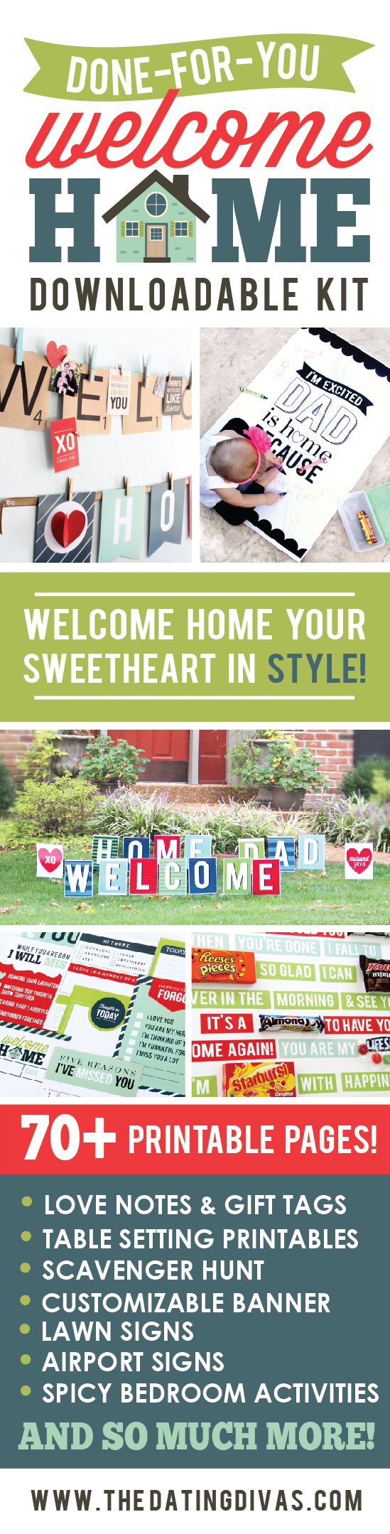 Welcome home printable party kit for Welcome home troops decorations