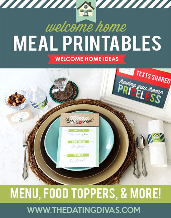 Welcome Home Meal Printables