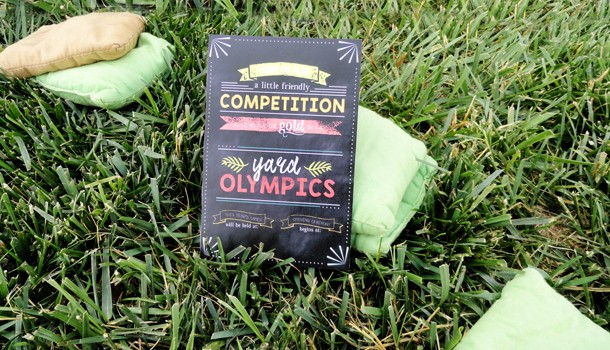 Summer Olympic Yard Games Group Date