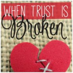 What to do when trust is broken