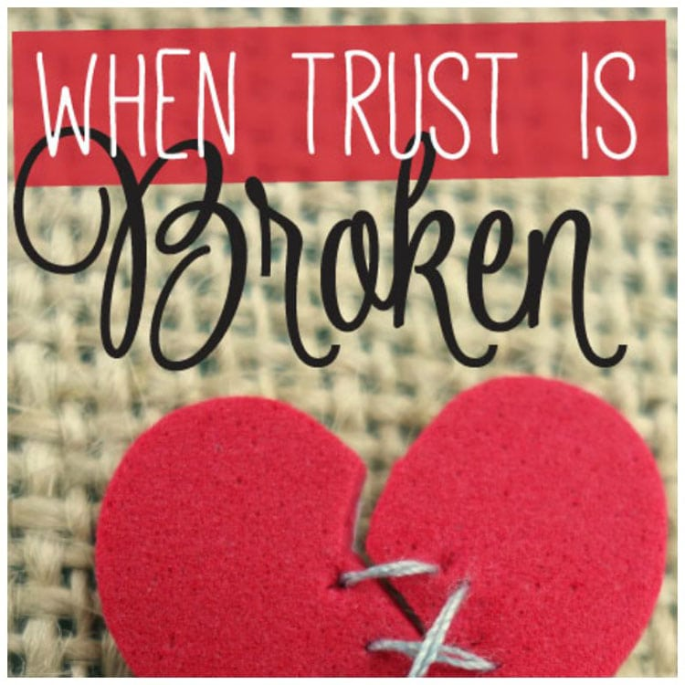 What to do when trust is broken