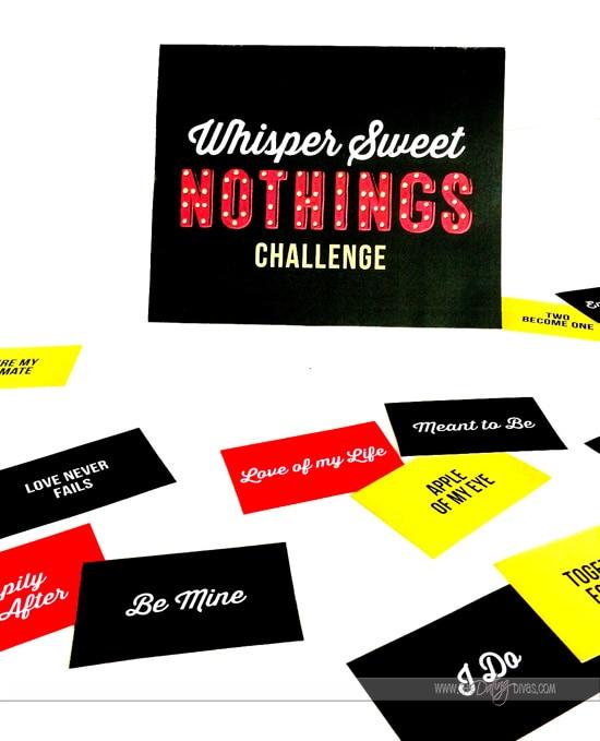 Whisper Sweet Nothings Game
