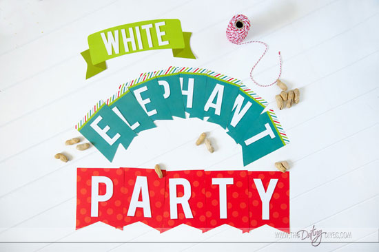 White Elephant Party Banner2
