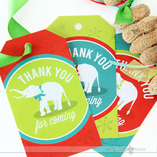 White Elephant Party Favor Tags