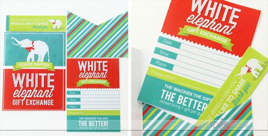 White Elephant Printable Invite