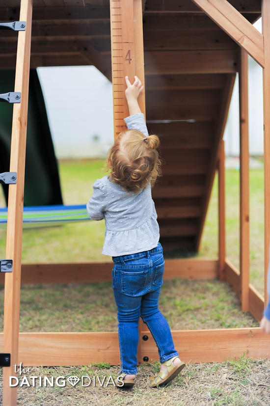Wooden Swing Set Height Chart