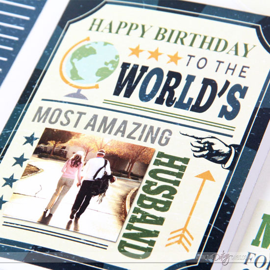 Worlds Best Husband Birthday Card Detail