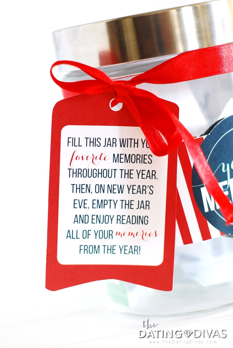 Printable Gift Tag For Year Of Memories Jar