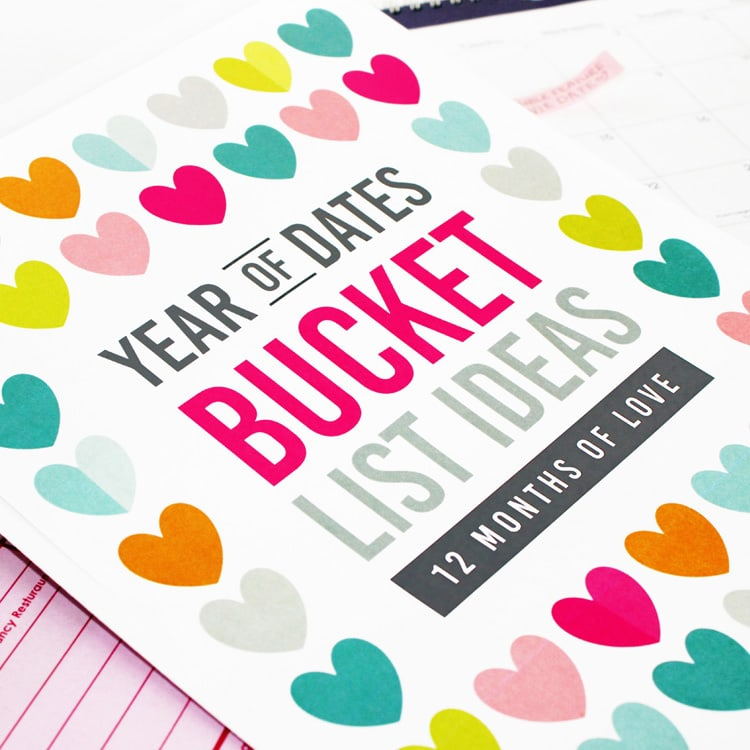 Year of Date Night Bucket Lists