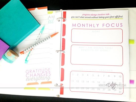 Complete set of printables for planning, finance, goal setting, meal planning, and more from www.thedatingdivas.com