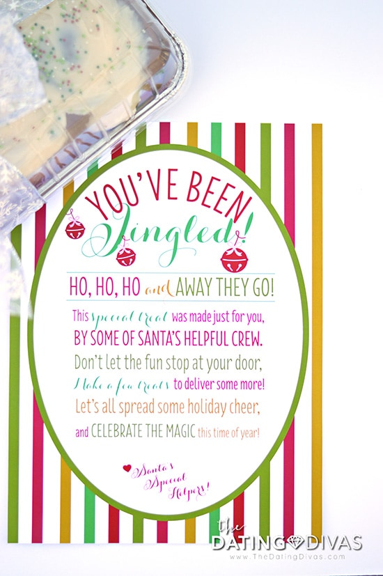 image about You Ve Been Elfed Printable named Youve Been Jingled! - A Xmas Society!