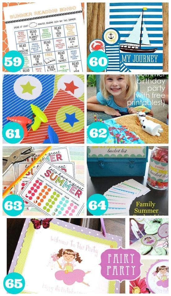 Fun Summer Printables for Kids
