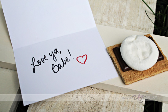 free printable s'mores card