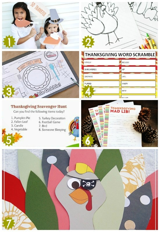 awesome kid and family friendly thanksgiving printable activities