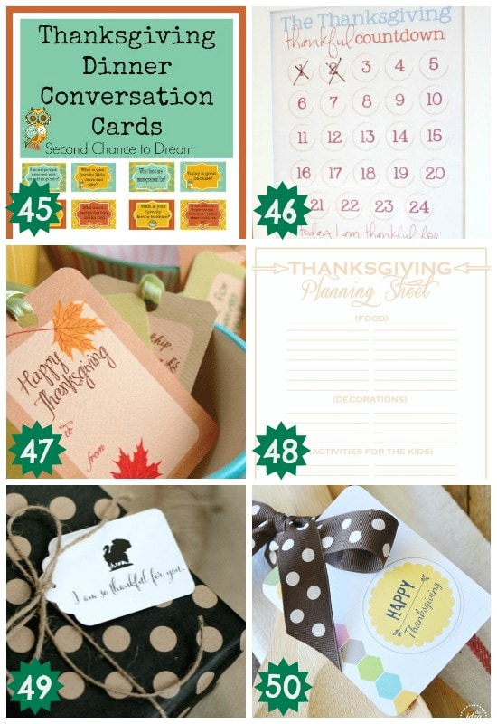 awesome miscellaneous thanksgiving printables