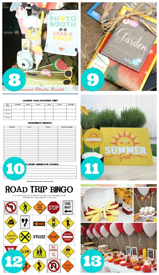 Great Free Summer Activity Printables